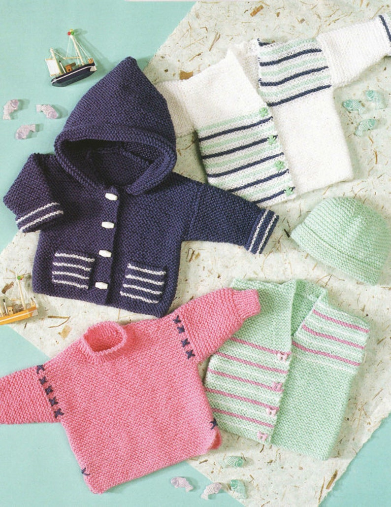 0a05c8607500 Knit Baby Cardigan and Sweater Vintage Pattern toddler