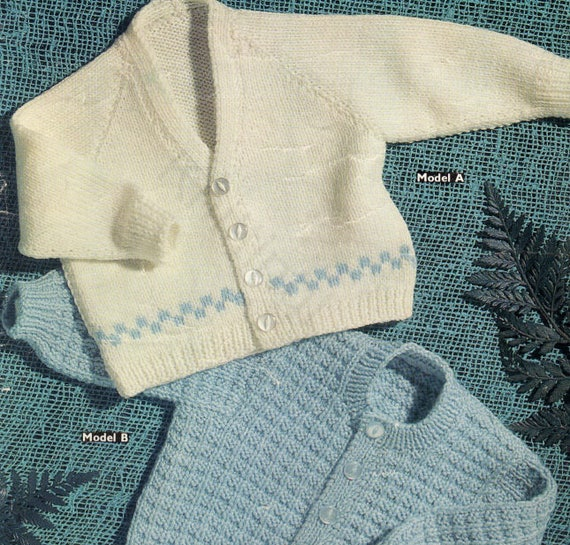 ca0cc139c876 Knit Baby Boys V-Neck and Round Neck Cardigan Sweaters