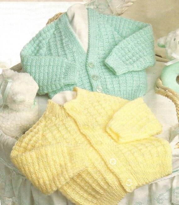 771060d7b940 Knit Baby Pdf Cardigans Round Neck and V-Neck