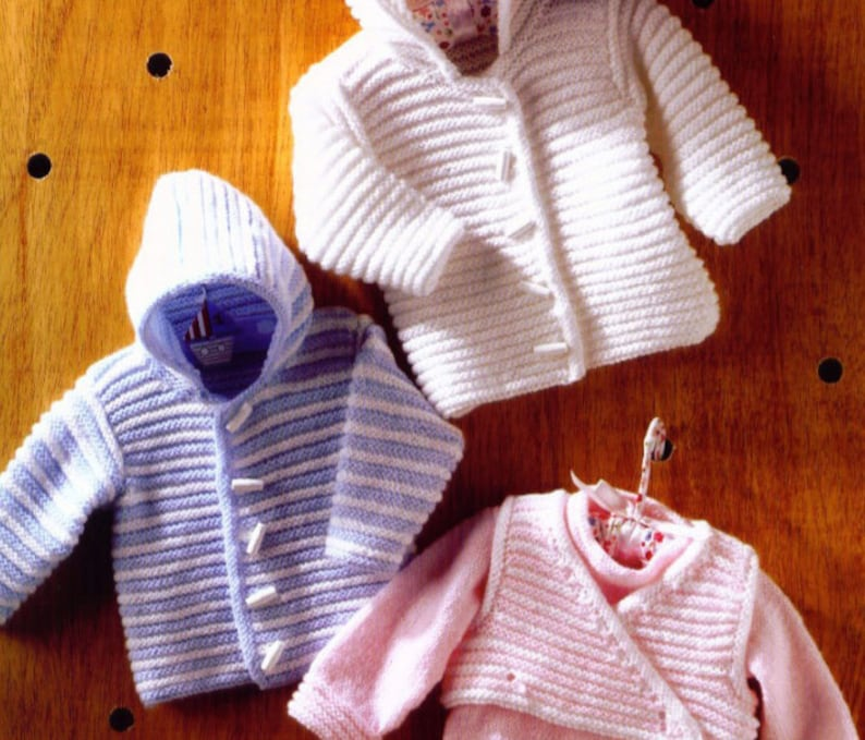 62ad6d572 Knit Baby Jacket Sweater and Body Warmer Pdf  OhhhBabyBaby