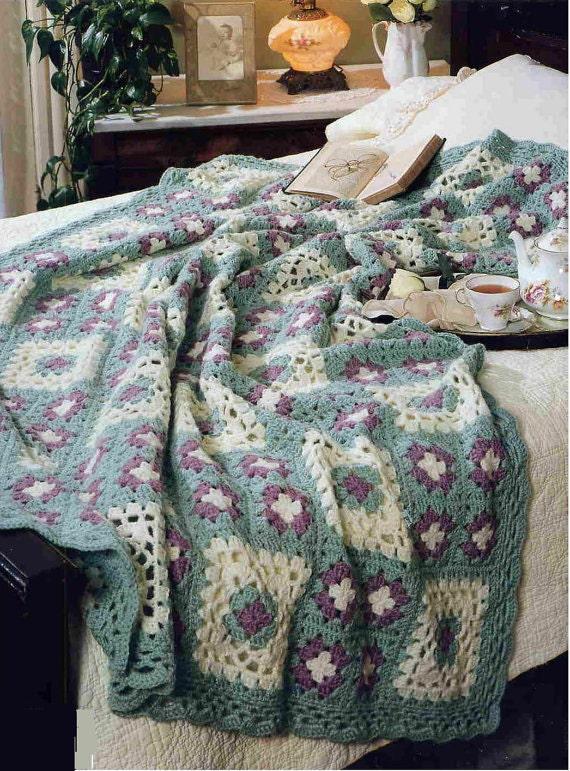 Häkeln Sie Wildrose Decke afghanischen Baby Vintage Muster | Etsy