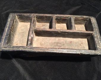 Old Wooden Betel Nut Preparation Box