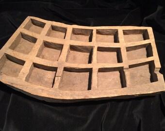 Old Wooden Betel Nut Preparation Tray