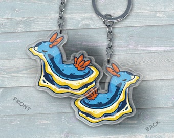 Sea Slug Chromodoris Annae Nudibranch - Acrylic Phone Charm / Keychain / Necklace
