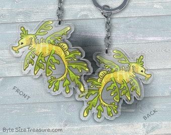 Leafy Sea Dragon Sea Horse- Acrylic Phone Charm / Keychain / Necklace