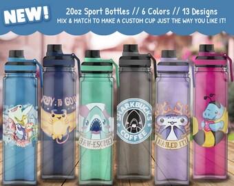 Sports Bottle Drinkware // Cups / Fun Aquatic Life Water Bottles