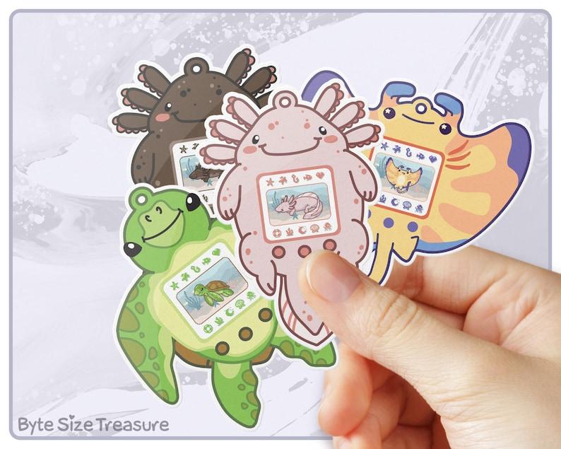Aquagotchi Stickers  Aquatic Animal Tamagotchi Waterproof image 0