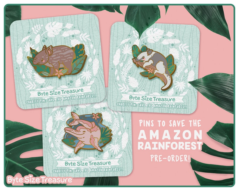 PRE-ORDER // Save the Rainforest Charity Enamel Pins // image 0
