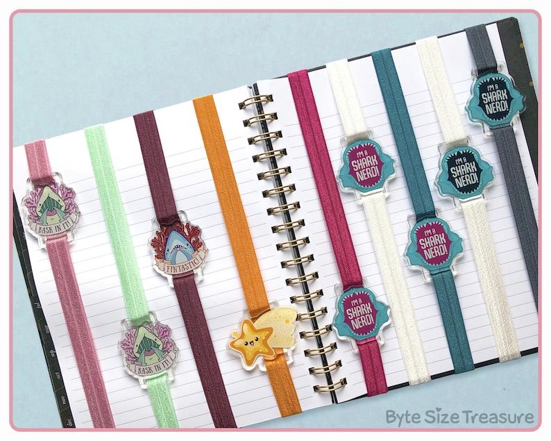 Elastic Bookband Bookmarks // Cute Sea Creature Charms // image 0
