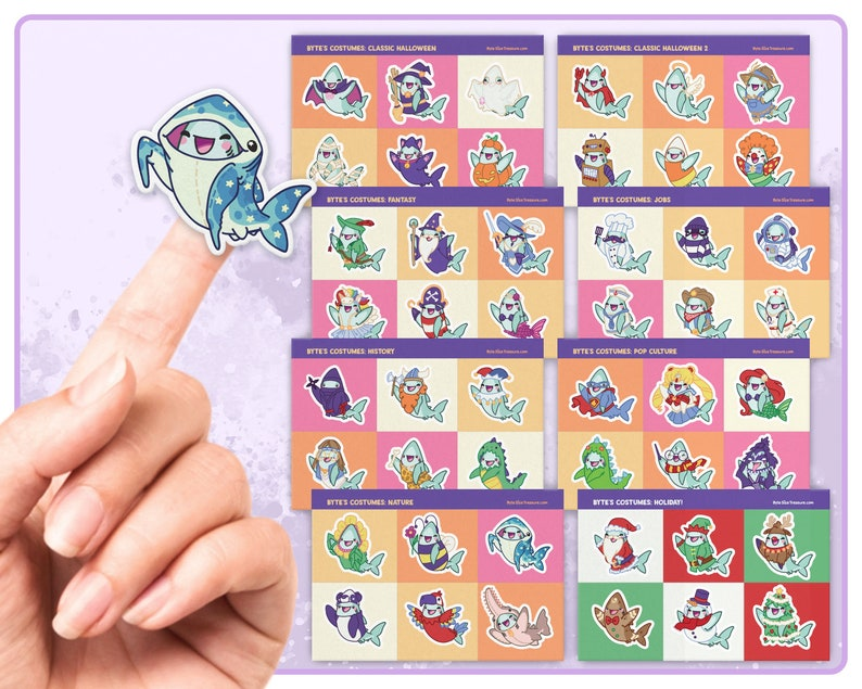 Byte's Costume Sticker Sheets // Halloween and Holiday image 0