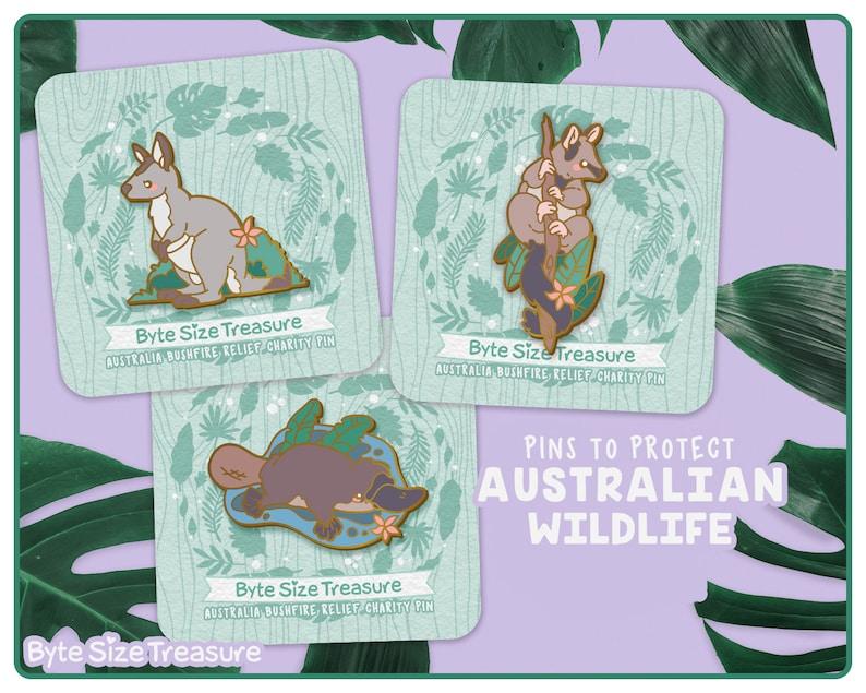 Australia Wildlife Relief Charity Enamel Pins // Brushtail image 0