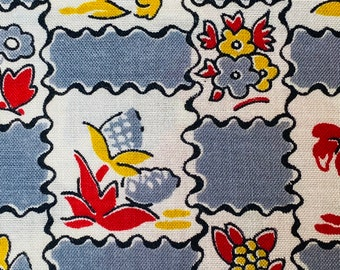 1940/'s Printed French Cotton Fabric Collection - 839 20 designs Wonderful 1930/'s