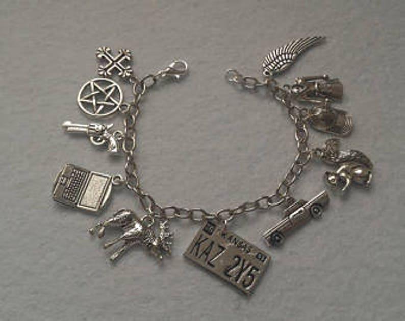81f4be12458c Supernatural Bracelet Dean Winchester Sam Winchester Colt