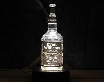 Evan Williams Bourbon Bottle Lamp, Bourbon Gift, Whiskey Gift, Gift For Men, Guy Christmas Gifts, Gift For Grandfather, Gift For Husband