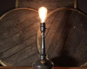 Upcycled Willett Bourbon Whiskey Bottle Lamp - Table Lamp, Vintage Edison Bulb, Repurposed Bottle, Whiskey Bottle, Bourbon Bottle, Man Cave