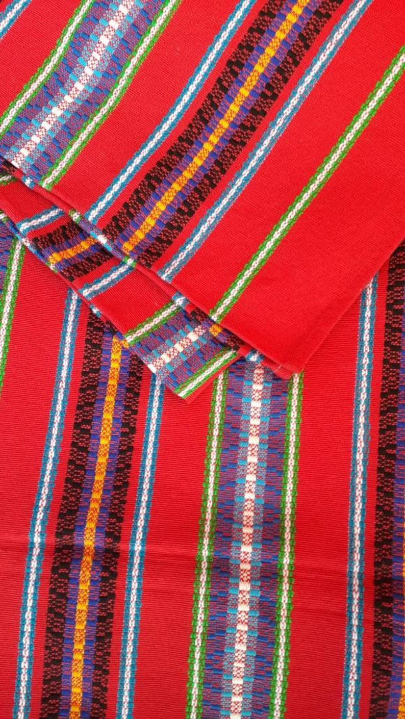 Guatemalan Handmade Tablecloth for 8 Multi-color Couch Throw Blanket Wrap Cloth Ethnic Linen