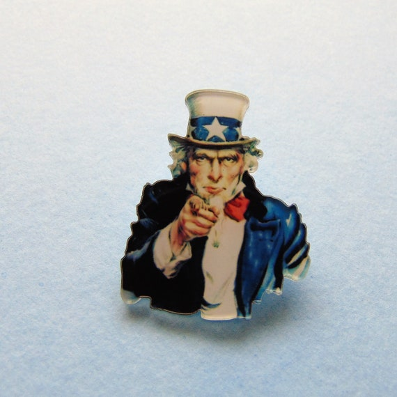 UNCLE SAM iron on patch WAR America Flag United States I WANT YOU U.S.