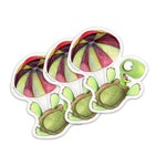 Falling Turtle 3 STICKER PACK!