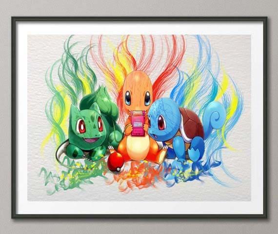Articles similaires carapuce bulbizarre salam che - Poster pokemon a imprimer ...