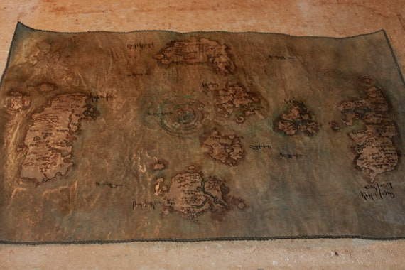 Big Azeroth map Battle for Azeroth World of Warcraft map Fantasy map WoW  Handdrawn imitates Parchment