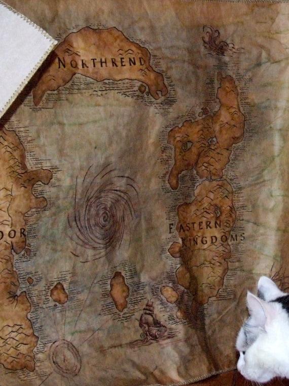 Large Azeroth map. World of Warcraft map. Choose expansion.   Etsy