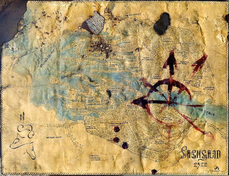 Warhammer Erengrad Handdrawn Map Kislev Storm Of Chaos Fantasy Etsy