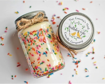 Birthday Cake Scented Soy Candle, Birthday Gifts, Best Birthday Gifts, Sprinkle Candles, Funfetti Candles, Cake Candles, Birthday Candles
