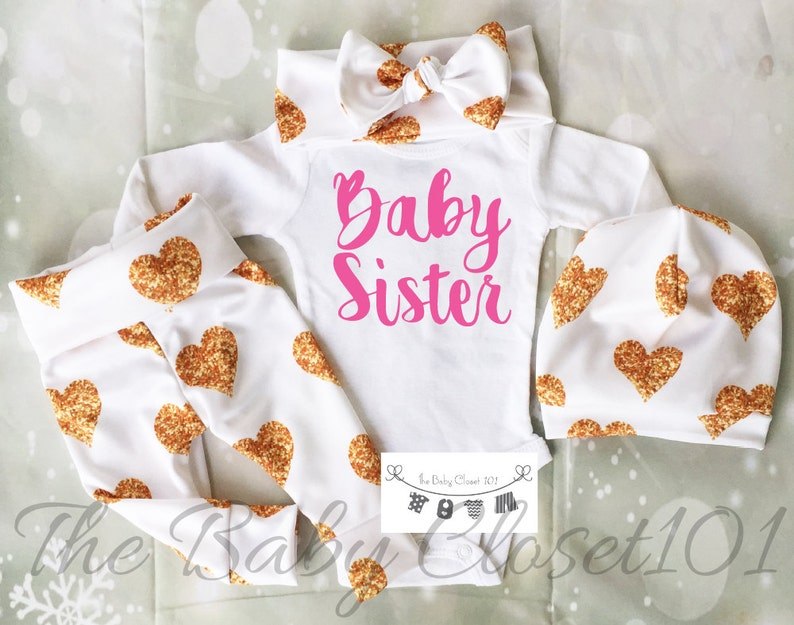 Newborn Girl Coming Home Outfit,Girls Coming Home Outfit Set,Baby  Girl,Hospital Outfit,Baby leggings,Hospital Outfit,Fabric NOT REAL GLITTER