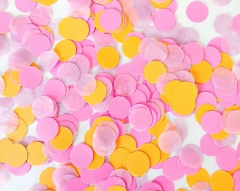 Butterfly Confetti Party Decorations Pink and Yellow 100 CT