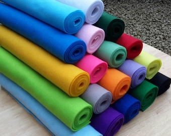 CRAFT FELT 2mm Thick Soft Feel, Mini Rolls 12ins x 36ins - Excellent Quality - Non Fray