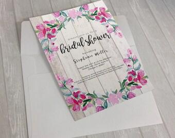 Floral Gates Invitation Design