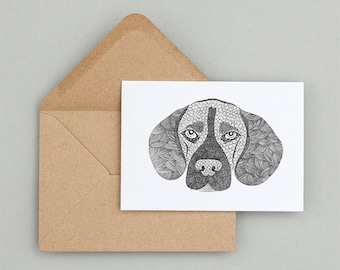 Beagle Stationary. Dog Stationary.Thank you card. Dog Note cards. Beagle Cards. Folded Beagle Note Cards, Set of 8