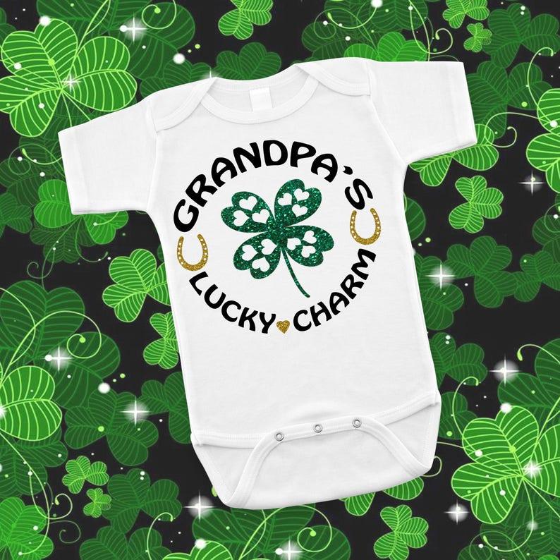 fac3763e81d Grandpa s Lucky Charm Irish St. Patricks Day Baby Shower
