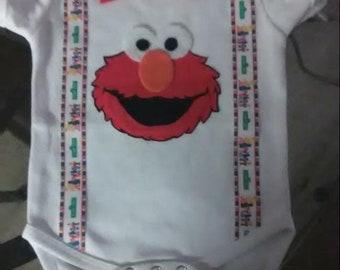 Sesame Street Birthday Onesie Elmo
