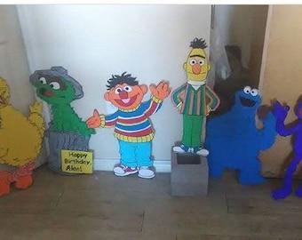 Sesame Street cut out / 2 ft tall each character