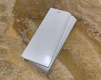 """50ea Dye Sublimation Aluminum Bookmarks 2""""x6"""" w/Hole"""