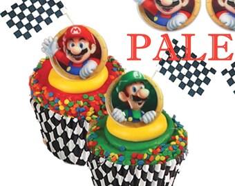 Nintendo Mario  Luigi Cupcake Topper, Super Mario Cupcake Topper, Nintendo Cupcake toppers