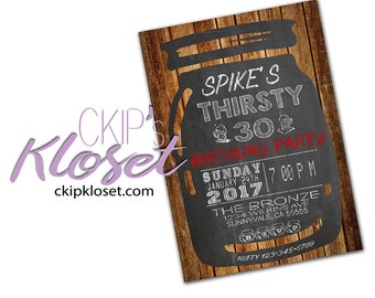 surprise 30th birthday invitations for him or her mens or etsy