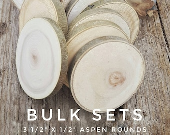 Bulk Wood Slices, DIY Wood Ornaments, Wood Rounds, Natural tree disks, Blank wood coasters, DIY Rustic Wedding Favors, Smooth wood circles