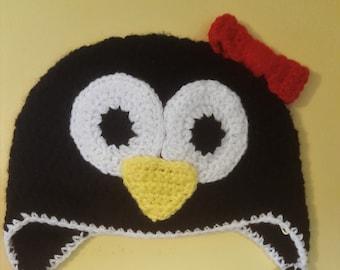 Crochet Penguin Hat with Earflaps