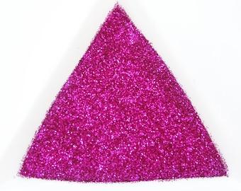 "Shocking Pink Loose Ultra Fine Glitter, .008"" Hex, 0.2mm 1/128"
