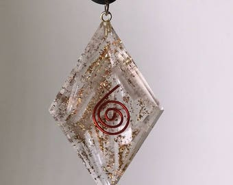 Selenite Energy Pendant Necklace for EMF Protection