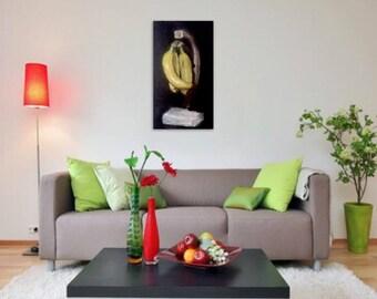 Still Life- Bananas Oil on Canvas