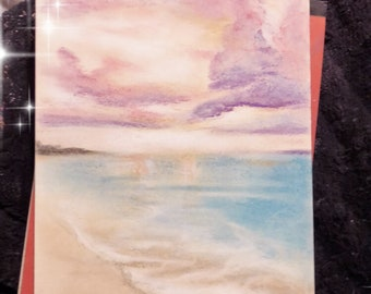 Chalk Pastel Sunrise on Paper