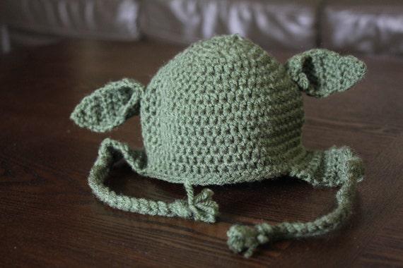 19f865986beef Yoda crochet baby hat