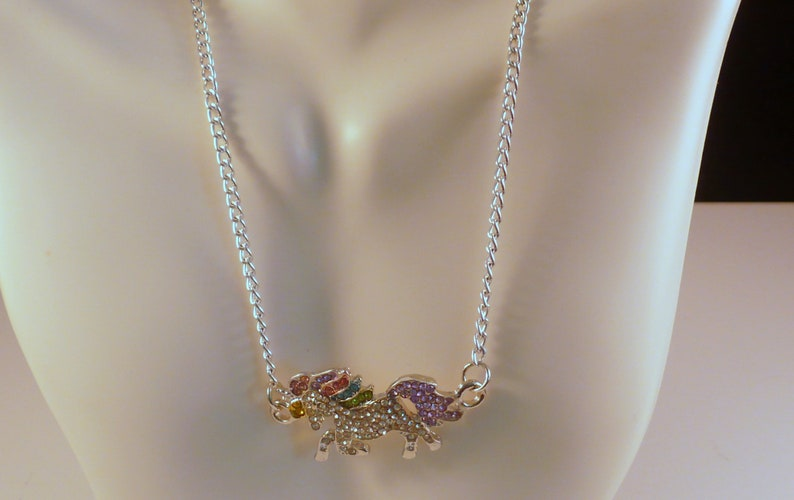 Multi-Color Cute Unicorn Girls Necklace 12 with 2 image 0