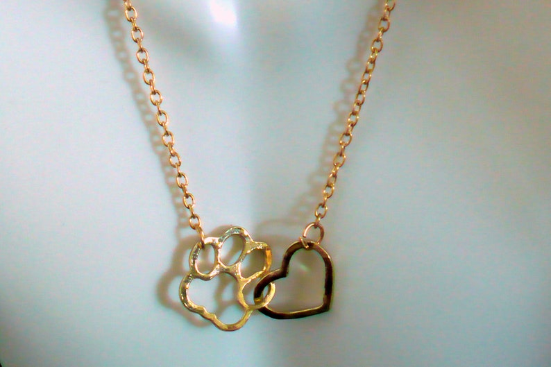 Pet Lover Gold-tone Necklace 18 2 Extension Heart image 0