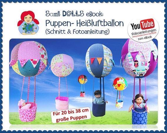 eBook: Heissluftballon für Puppen Schnittmuster | Etsy