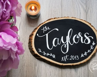 Custom Family Basswood Wall Art   Family Name Wall Art   Bridal Shower Gift   Newlywed Gift   Rustic Home Decor   Rustic Family Name