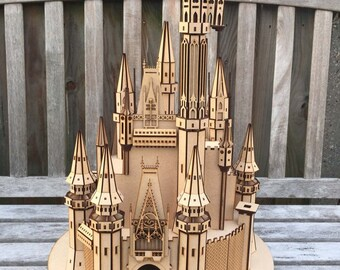 Fairytale Princess Castle large MDF model Kit - DIY project 718pieces - 57cm high- Birthday Sale!